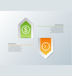 up and down arrow infographics vector image