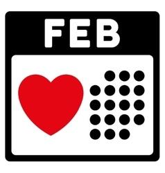 Valentine February Day Icon vector image