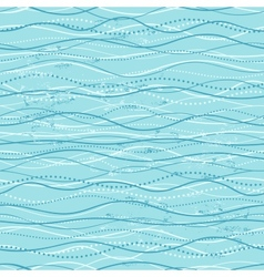 Vintage seamless with ethnic waves vector image
