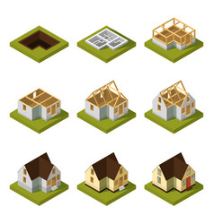 visualization modern building on different vector image