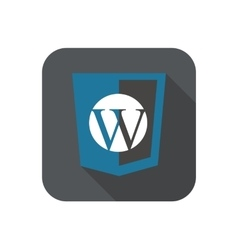 Web development shield sign - php site vector