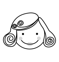 woman cartoon face icon image vector image
