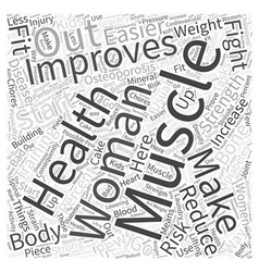 Women fitness word cloud concept vector