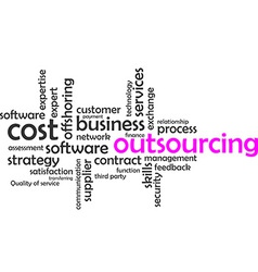 word cloud outsourcing vector image
