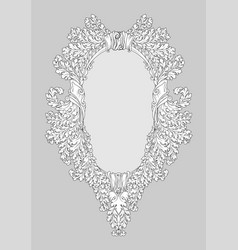 baroque rococo mirror frame decor vector image