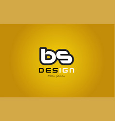 bs b s alphabet letter combination digit white on vector image vector image