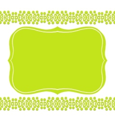 Card with floral borders vector image