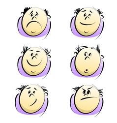 cartoon emotions vector image vector image