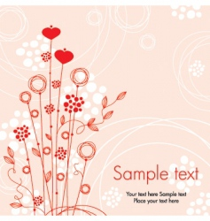 Greeting floral card vector