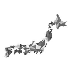 map Japan polygon vector image vector image
