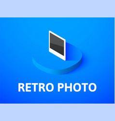retro photo isometric icon isolated on color vector image vector image
