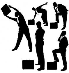 business silhouettes vector image