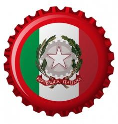 Italy bottle cap vector image vector image