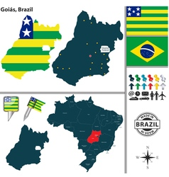 Map of Goias vector image vector image