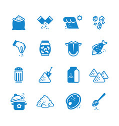 salt silhouette icons set vector image