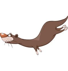 Cute Otter Cartoon Character vector image