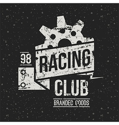 Emblem racing club in retro style vector image vector image