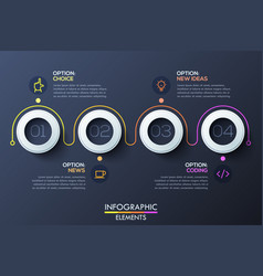 modern infographic horizontal design template with vector image