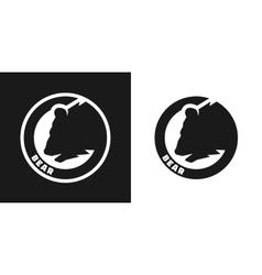 Silhouette of an bear monochrome logo vector image vector image