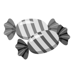 Candy icon gray monochrome style vector image vector image