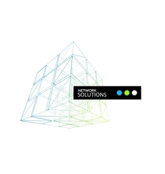 Cube geometry construction icon vector image