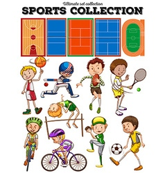 Different kind of sports and courts vector image