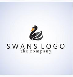 Swans ideas design on background vector
