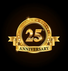 25 years anniversary celebration logotype vector