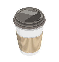 3d isometric flat concept coffee cup vector image