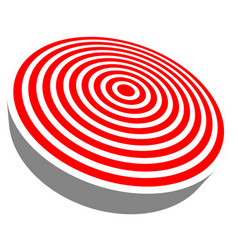 3d red target isolated on white objective vector