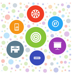 7 marketing icons vector