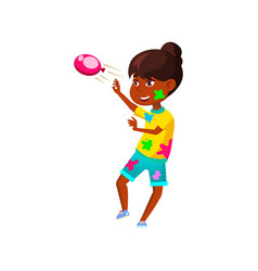 African girl play with parents and throwing vector