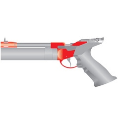 Air pistol vector image