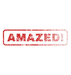 Amazed exclamation rubber stamp vector