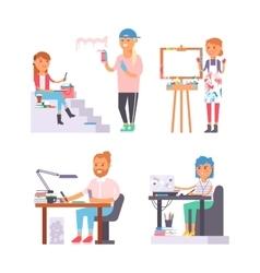 Artist creative people character vector