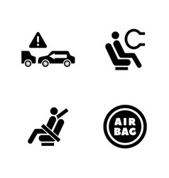 auto protect simple related icons vector image