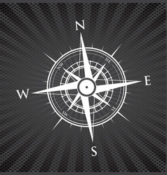 black compass background vector image