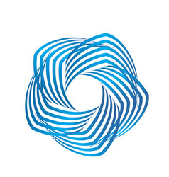 Blue business swirly abstract icon logo vector