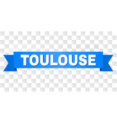 Blue stripe with toulouse text vector