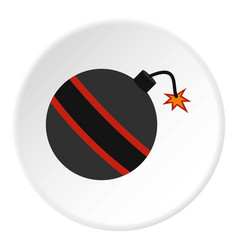bomb ready to explode icon circle vector image