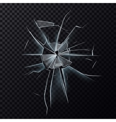 Broken glassware window or damaged screen vector image