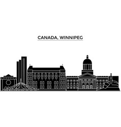 canada winnipeg architecture city skyline vector image