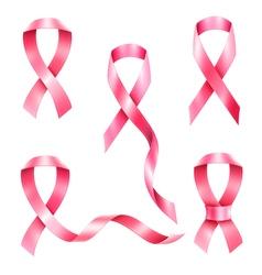 cancer ribbon set vector image