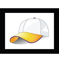 Cap on white background vector