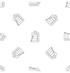 checklist pattern seamless vector image