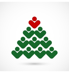 Christmas social tree vector