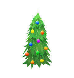 Christmas tree isolated on wite background vector