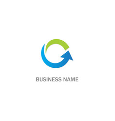 Circle arrow up logo vector