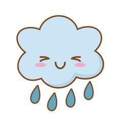 Cloud raining icon vector