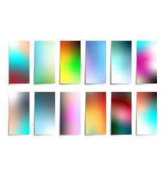 colorful gradient background set for printing vector image